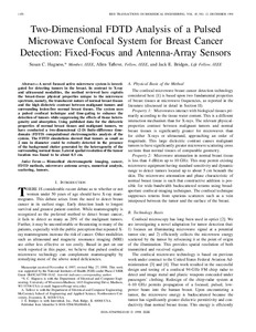 Two-dimensional FDTD analysis of a pulsed microwave confocal system