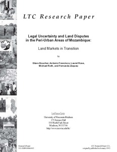 Legal uncertainty and land disputes in the peri-urban areas