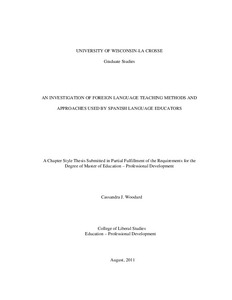 An Investigation of foreign language teaching methods and