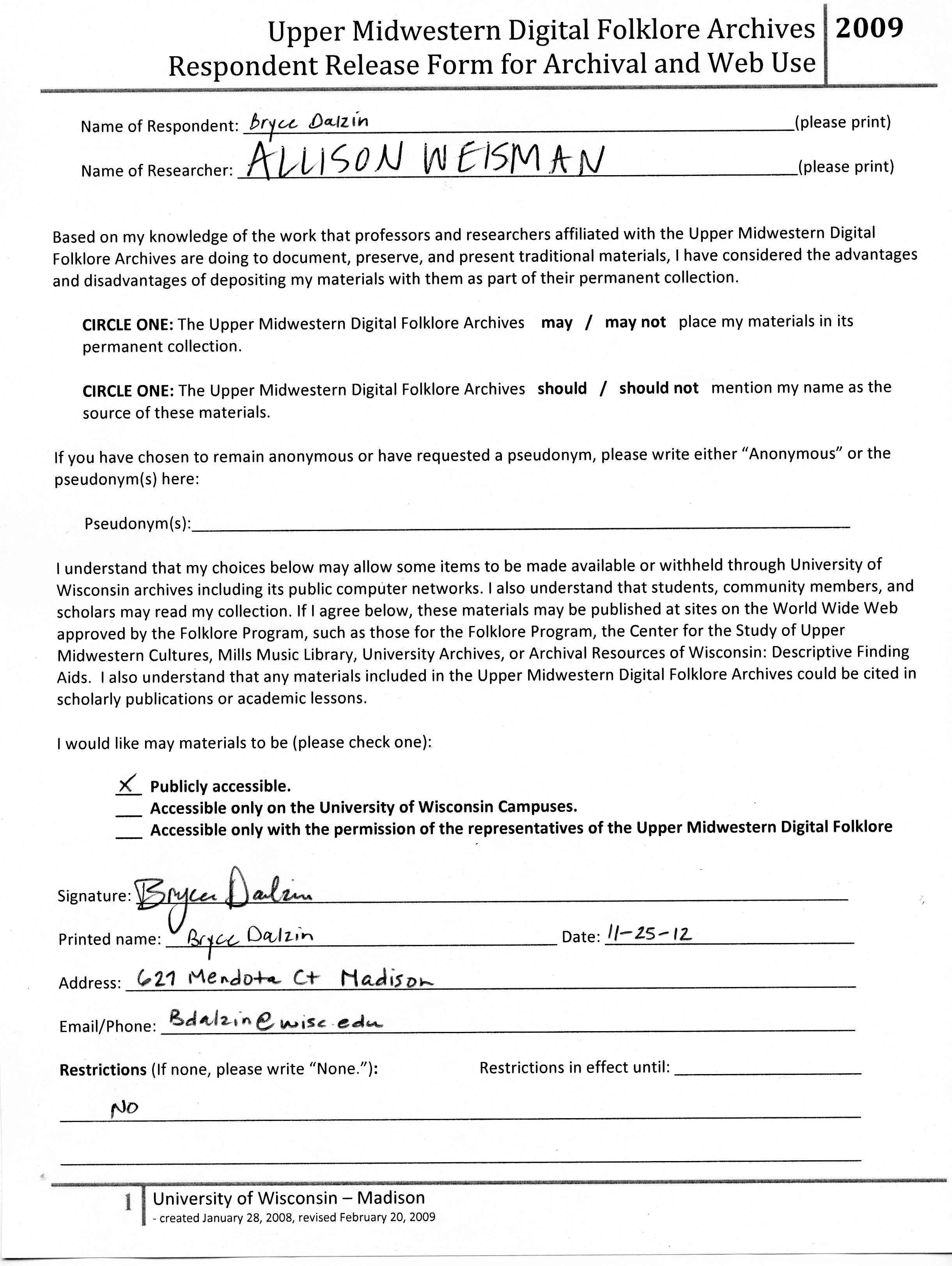 informed consent form interview research paper