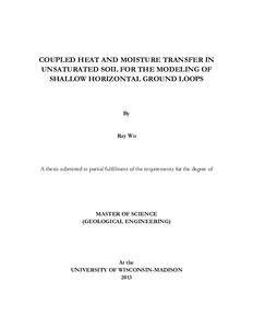 COUPLED HEAT AND MOISTURE TRANSFER IN UNSATURATED SOIL FOR THE