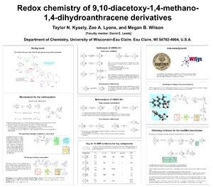Redox Chemistry of 9,10-diacetoxy-1,4-methano-1,4-dihydroanthracene